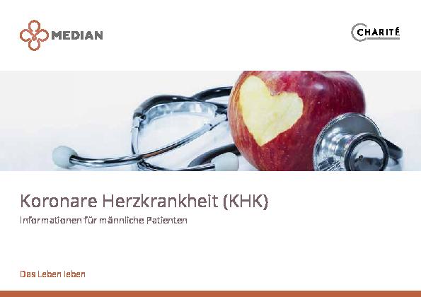 Infobroschüre Koronare Herzkrankheiten für männliche Patienten des MEDIAN Ambulantes Gesundheitszentrum Hannover