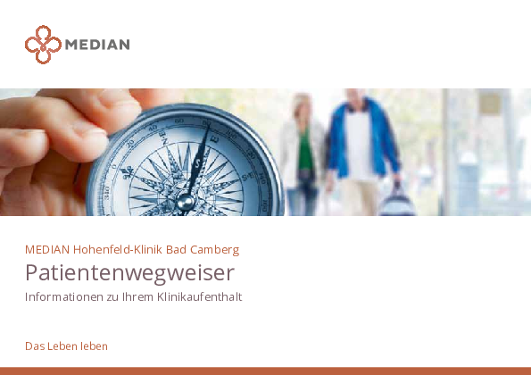 Infobroschüre Patientenwegweiser der MEDIAN Hohenfeld-Klinik Bad Camberg