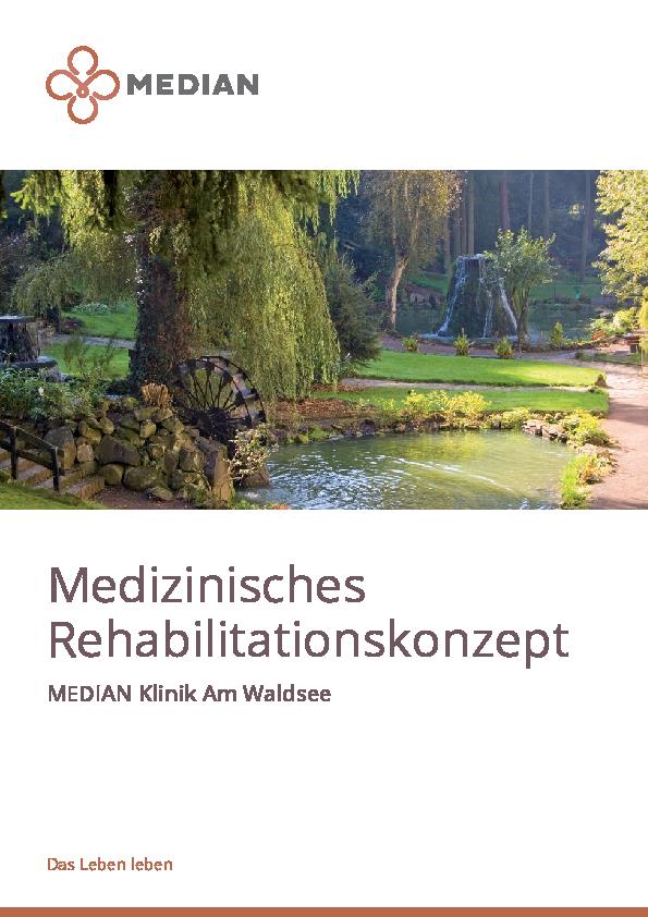 Infobroschüre Medizinisches Rehabilitationskonzept der MEDIAN Klinik am Waldsee