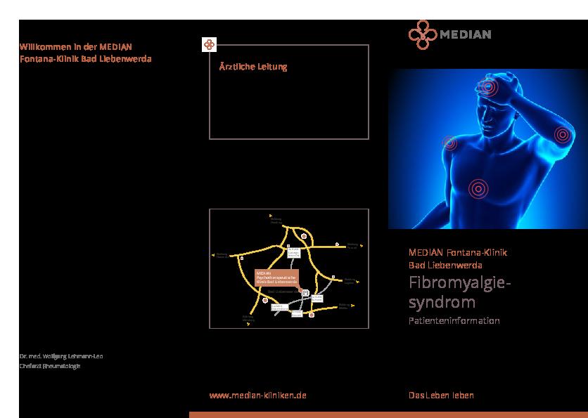 Infomaterial Fibromyalgiesyndrom der MEDIAN Fontana-Klinik Bad Liebenwerda