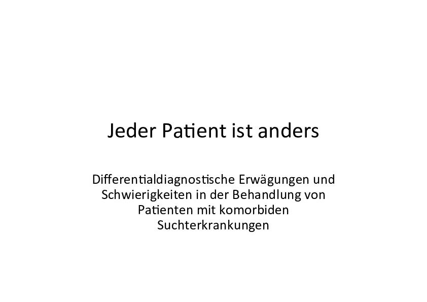 Jeder Patient ist anders in der MEDIAN Klinik Am Waldsee