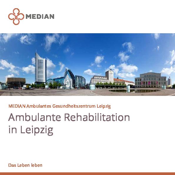 Kliniküberblick des MEDIAN Ambulantes Gesundheitszentrum Leipzig