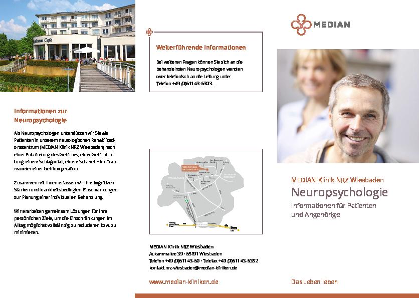Infomaterial Neuropsychologie der MEDIAN Klinik NRZ Wiesbaden