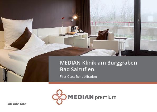 Infobroschüre zum Premiumangebot der MEDIAN Klinik Bad Salzuflen