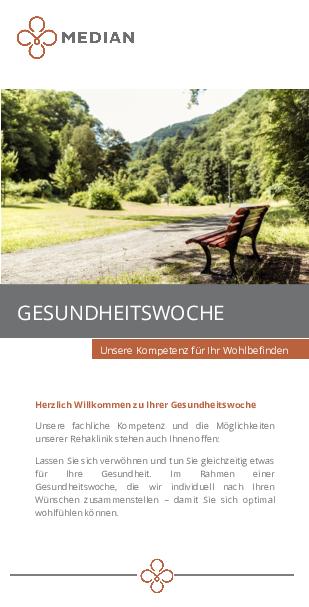 Infoflyer Gesundheitswoche des MEDIAN Reha-Zentrum Bad Bertrich