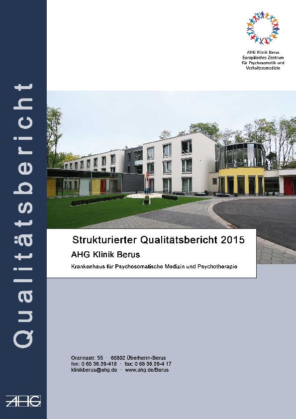 Qualitätsbericht 2015 Struktur- und Leistungsdaten des Krankenhauses