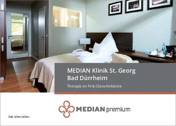 Premium Broschüre der MEDIAN Klinik Bad Dürrheim zum Download