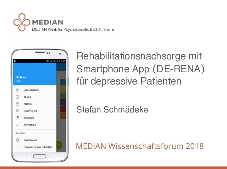 Die MEDIAN App kann auch Nachsorge Referenten: Dr. Johannes Schröter und Benedikt Simon
