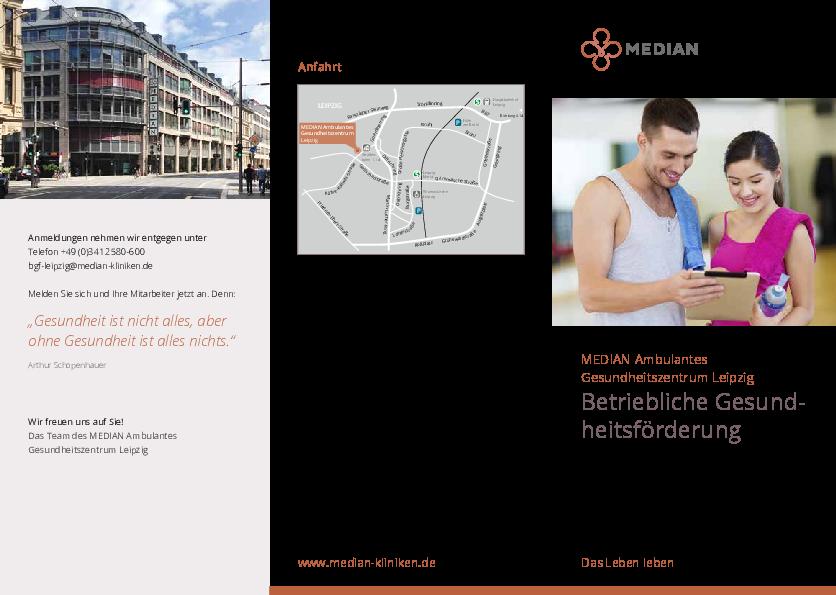 Infobroschüre Betriebliche Gesundheitsförderung
