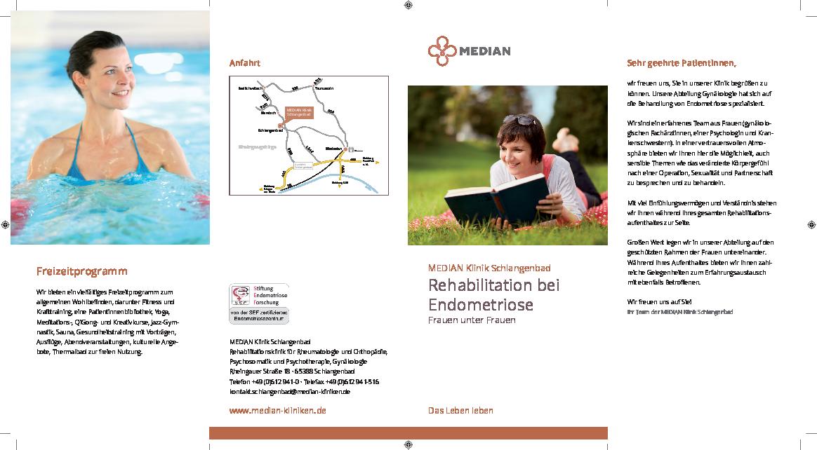 Infobroschüre Endometriose der MEDIAN Klinik Schlangenbad