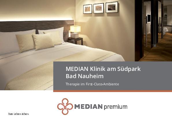 Premiumbroschüre Therapie im First-Class-Ambiente der MEDIAN Klinik am Südpark Bad Nauheim