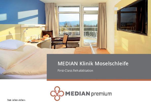 Infobroschüre zum Premium Angebot der MEDIAN Klinik Moselschleife