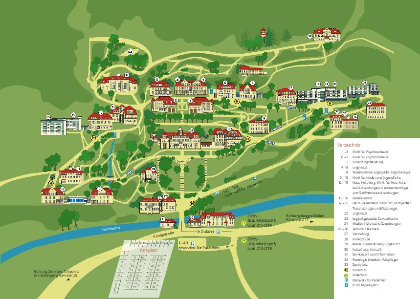 Orientierungsplan zur MEDIAN Klinik Bad Gottleuba