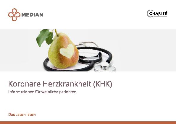 Flyer weibliche Patienten Koronare Herzkrankheit des MEDIAN Ambulantes Gesundheitszentrum Hannover