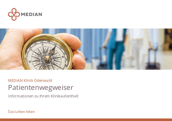Patientenwegweiser Infomaterial der MEDIAN Klinik Odenwald - Fachkrankenhaus