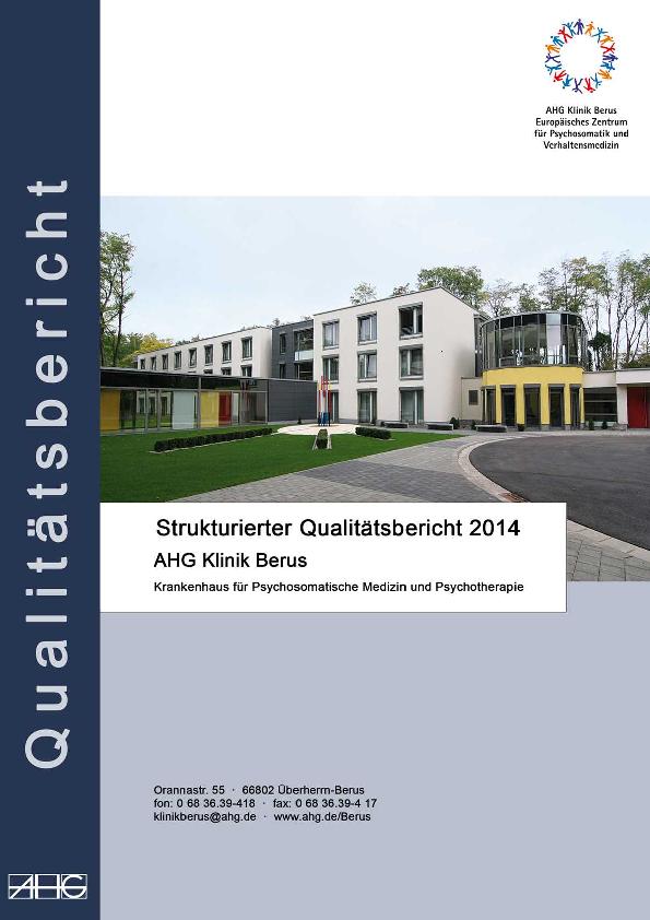 Qualitätsbericht 2014 Struktur- und Leistungsdaten des MEDIAN Klinik Berus – Fachkrankenhaus