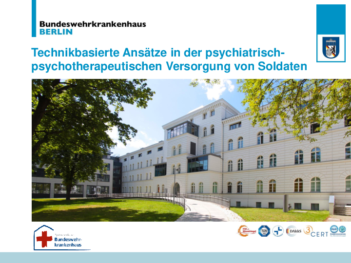 Gebäude Bundeswehrkrankenhaus Berlin der MEDIAN Kliniken