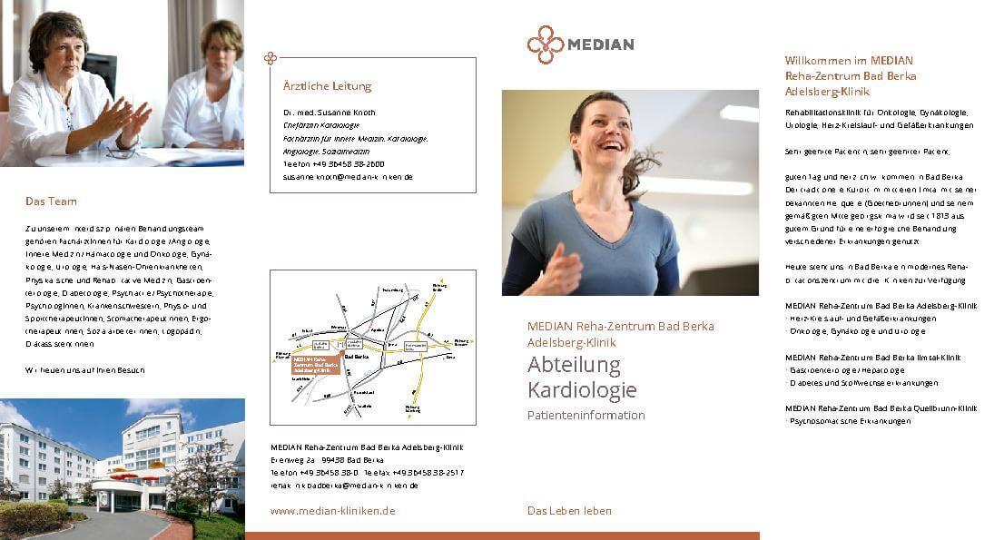 Kardiologie Patienteninformation MEDIAN Reha-Zentrum Bad Berka Adelsberg-Klinik