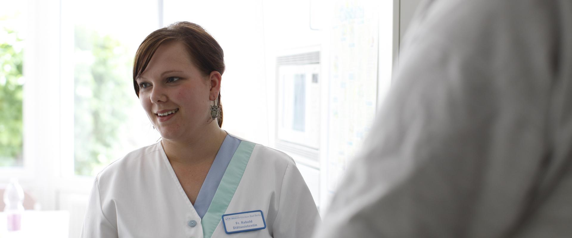 Frau Rabold Diätassistentin im MEDIAN Reha-Zentrum Bad Berka Adelsberg-Klinik