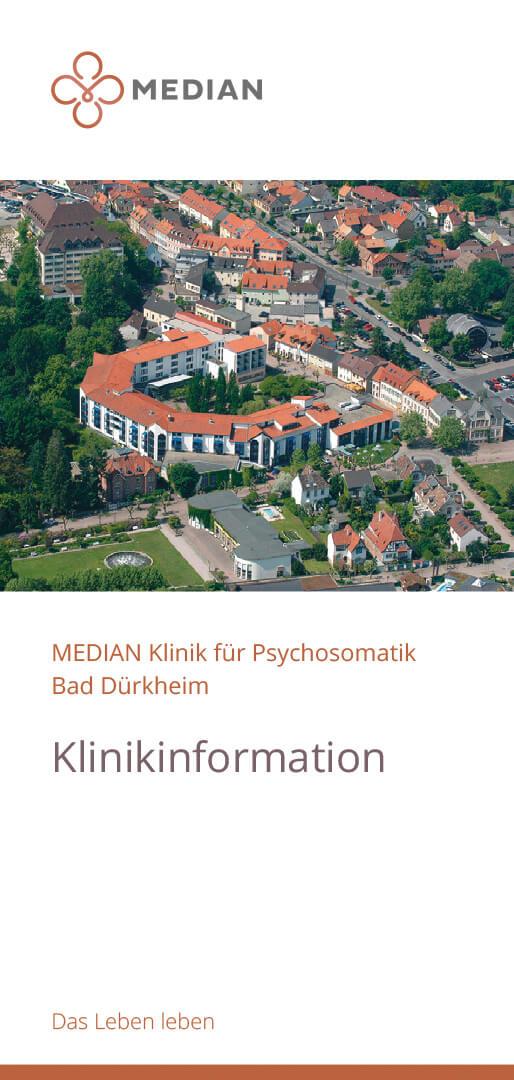 Infoflyer Kliniküberblick der MEDIAN Klinik für Psychosomatik Bad Dürkheim