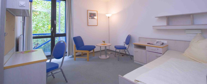 Ein Doppelzimmer in der MEDIAN Klinik für Psychosomatik Bad Dürkheim