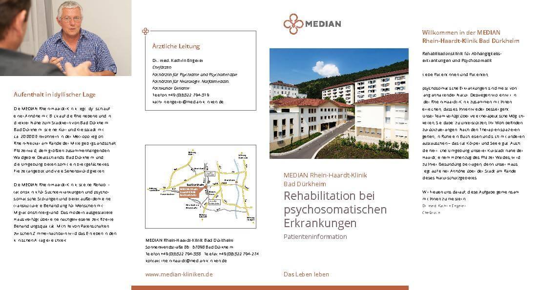 Rehabilitation bei psychosomatischen Erkrankungen Patienteninformation der MEDIAN Rhein-Haardt-Klinik Bad Dürkheim