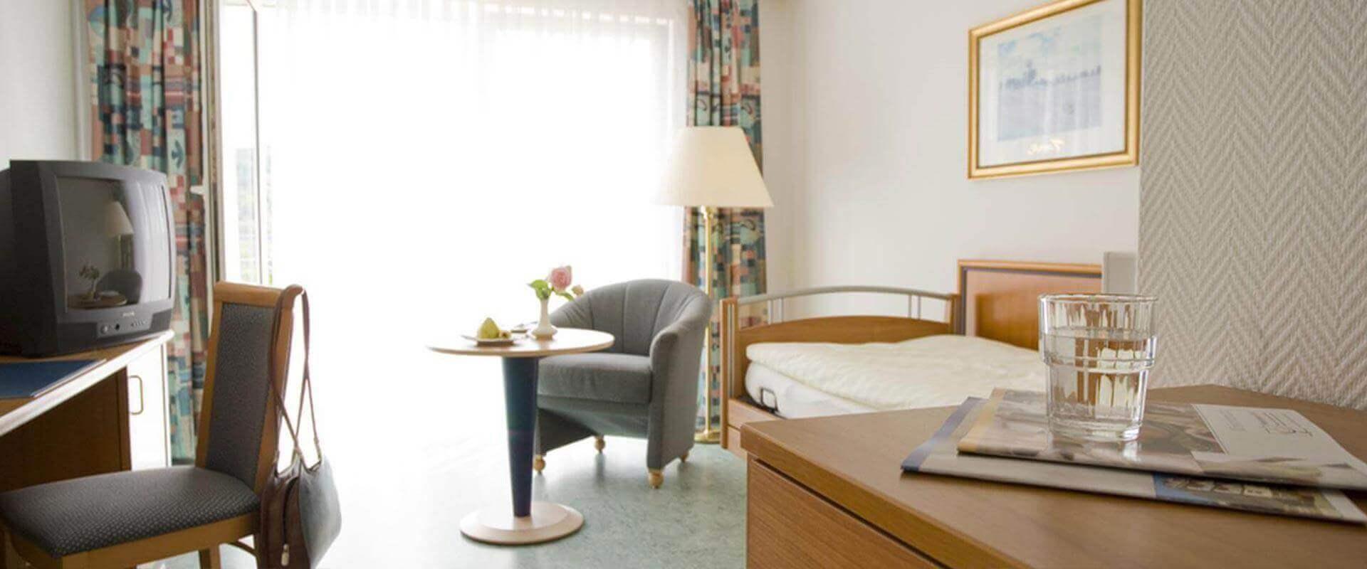 Zimmer in der MEDIAN Frankenpark Klinik Bad Kissingen