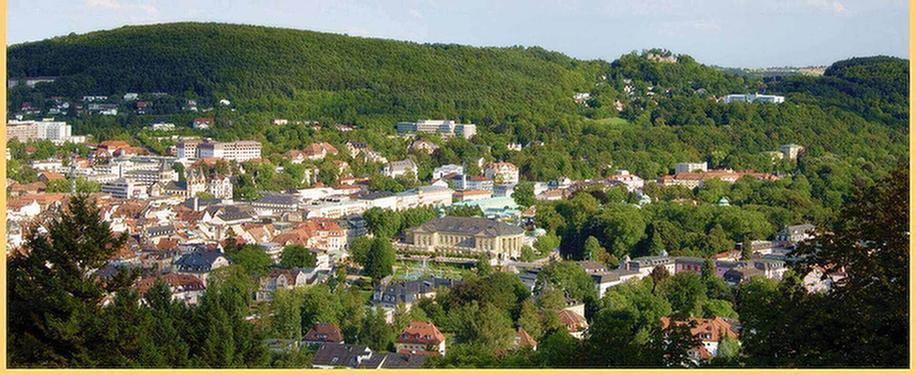 Luftaufnahem von Bad Kissingen in der Nähe der MEDIAN Frankenpark Klinik Bad Kissingen