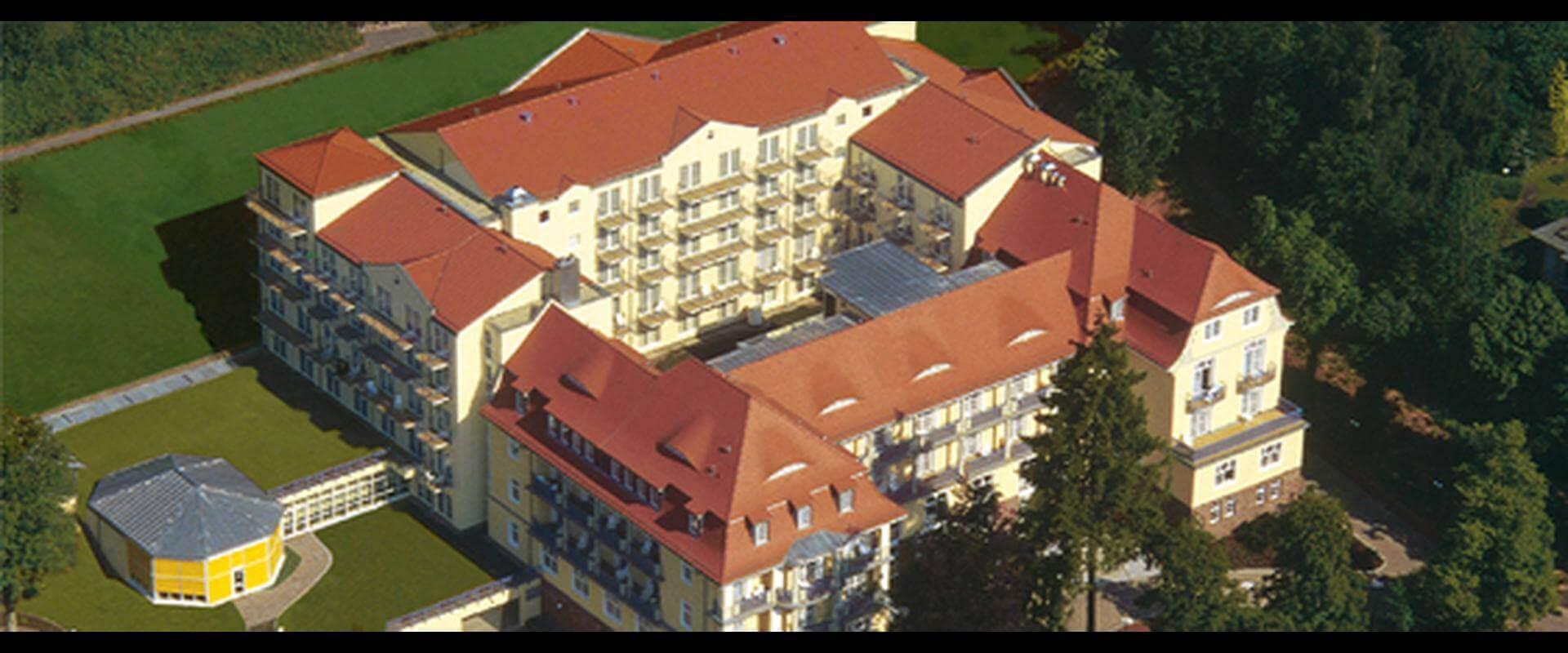 Luftbild der MEDIAN Frankenpark Klinik Bad Kissingen
