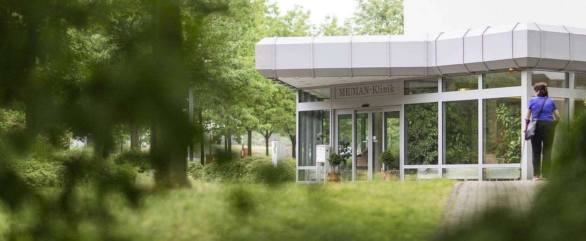 Eingangsbereich der MEDIAN Klinik Bad Lausick