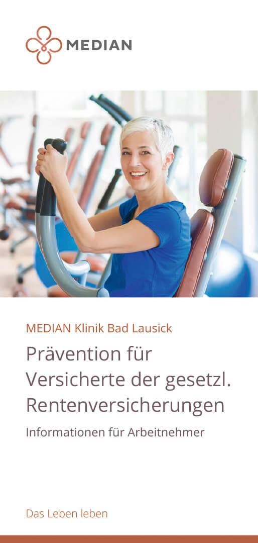 Flyer Prävention für Versicherte der gesetzlichen Rentenversicherung der MEDIAN Klinik Bad Lausick