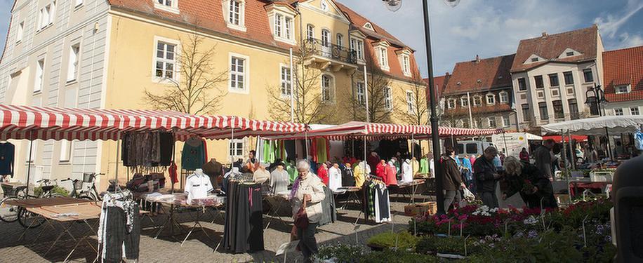 Markt in Bad Liebenwerda in der Nähe der MEDIAN Fontana-Klinik Bad Liebenwerda