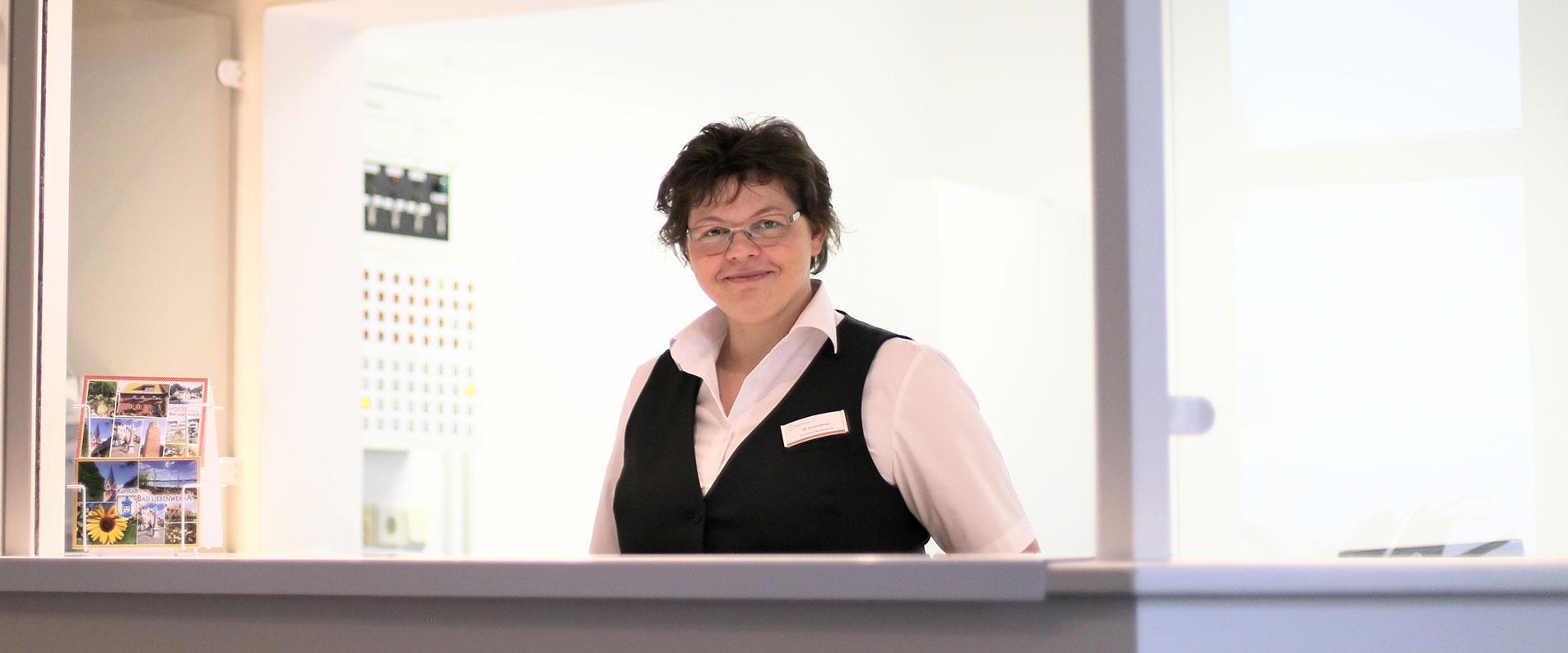 Rezeptionistin in der MEDIAN Psychotherapeutische Klinik Bad Liebenwerda