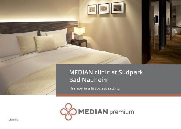 Englische Infobroschüre über die MEDIAN Klinik am Südpark Bad Nauheim
