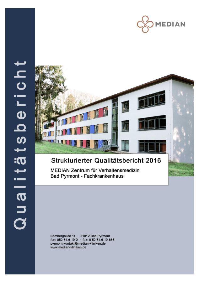 Qualitätsbericht 2016 des MEDIAN Zentrum für Verhaltensmedizin Bad Pyrmont - Fachkrankenhaus