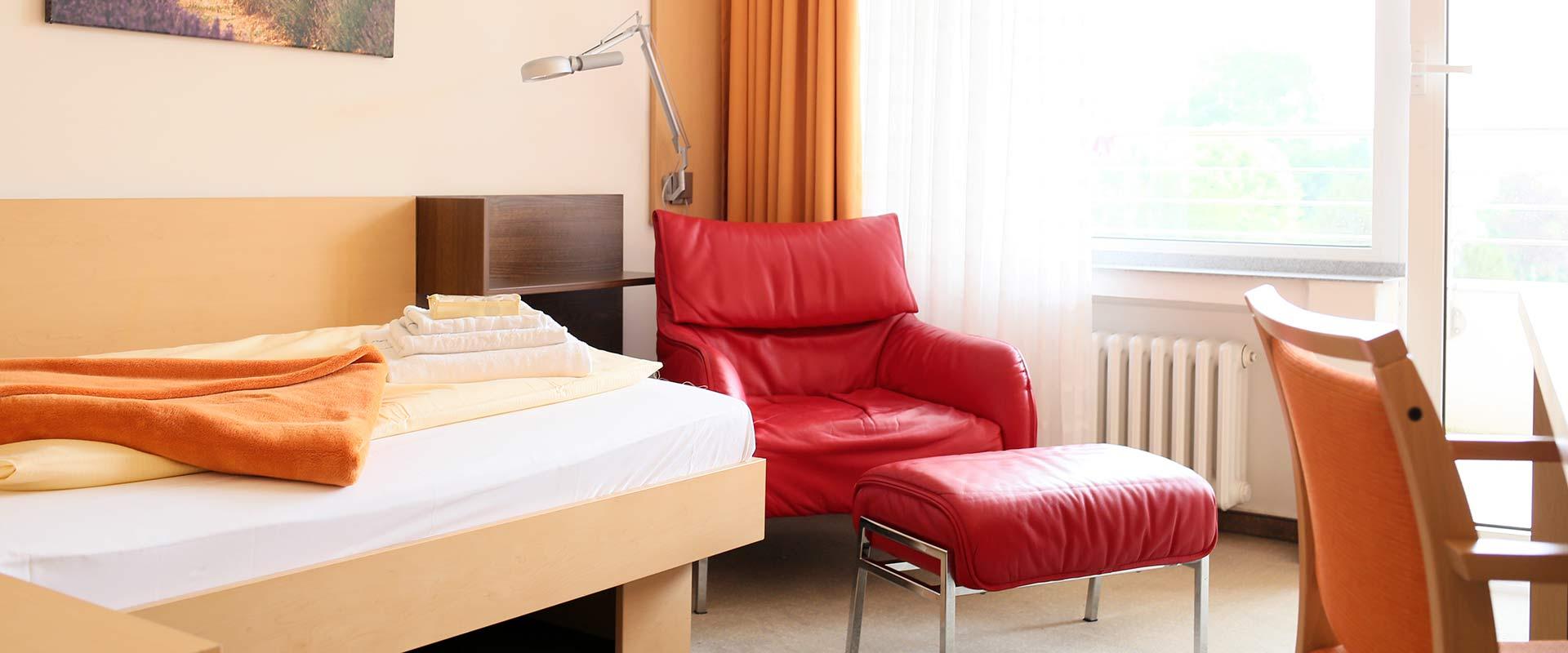 Zimmer im MEDIAN Zentrum für Verhaltensmedizin Bad Pyrmont Klinik für Psychosomatik