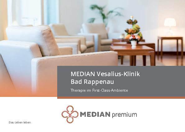 Infoflyer Therapie im First-Class-Ambiente der MEDIAN Vesalius-Klinik Bad Rappenau