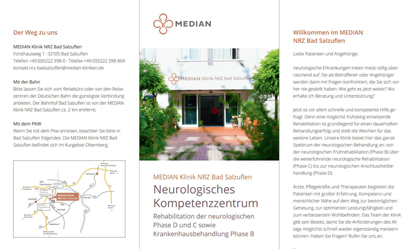 Infobroschüre zum Neurologischem Kompetenzzentrum in der MEDIAN NRZ Bad Salzuflen