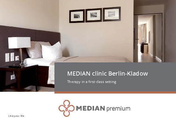 Englische Infobroschüre über die MEDIAN Klinik Berlin-Kladow