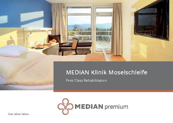 Flyer First-Class Rehabilitation in der MEDIAN Reha-Zentrum Bernkastel-Kues Klinik Moselschleife