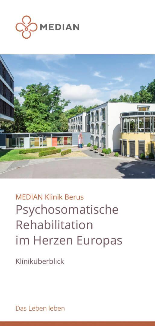 Infoflyer Psychosomatische Rehabilitation der MEDIAN Klinik Berus