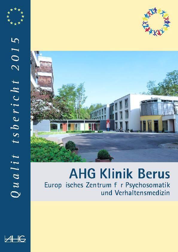 Qualitätsbericht des Europäischen Zentrum für Psychosomatik und Verhaltensmedizin für die AHG Klinik Berus heute MEDIAN Klinik Berus