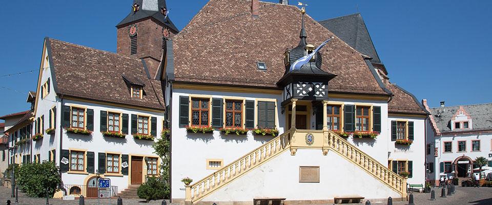 Der Ort Deidesheim in der Nähe der MEDIAN Privatklinik Berggarten Deidesheim