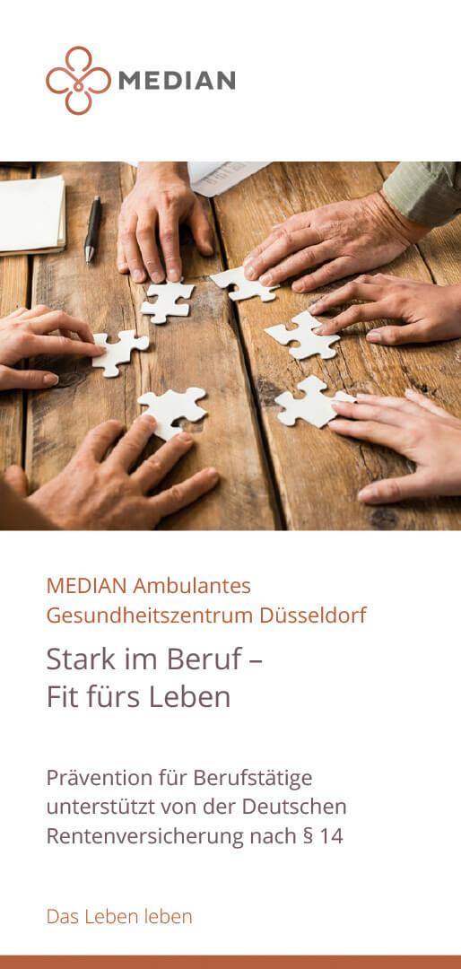 Infoflyer Stark im Beruf Fit fürs Leben der MEDIAN AGZ Düsseldorf