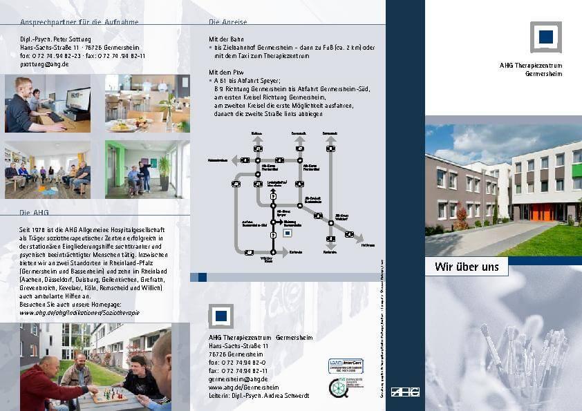 Informationsbroschüre zur Anfahrt und Aufnahme der MEDIAN Klinik Germersheim