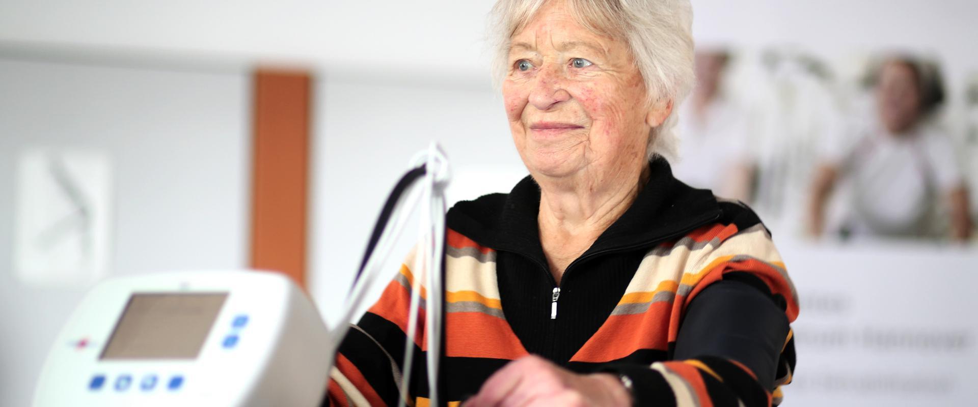 Kardiologie-Patientin in der MEDIAN Klinik Bad Gottleuba