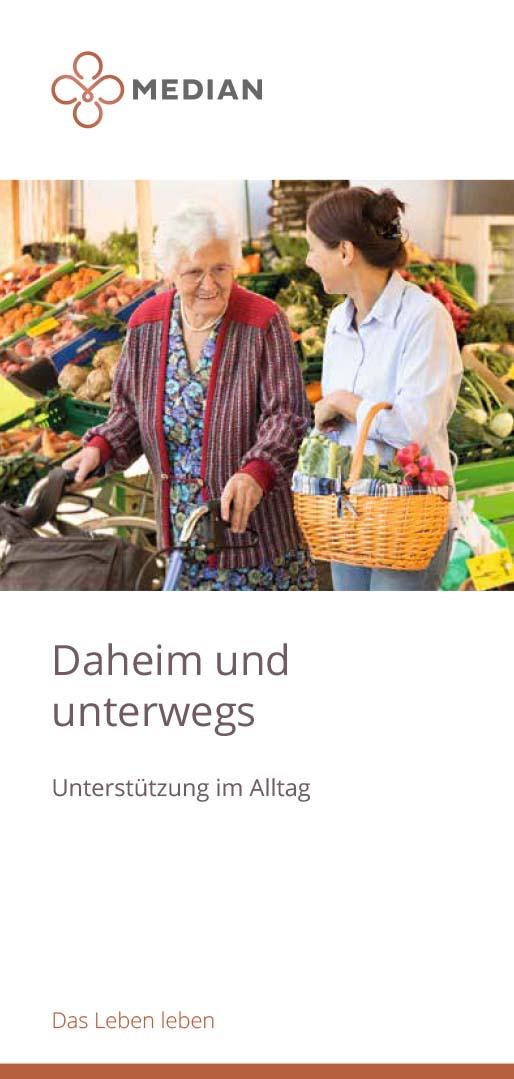 Infobroschüre Unterstützung im Alltag MEDIAN Klinik Therapiezentrum Haus Dondert