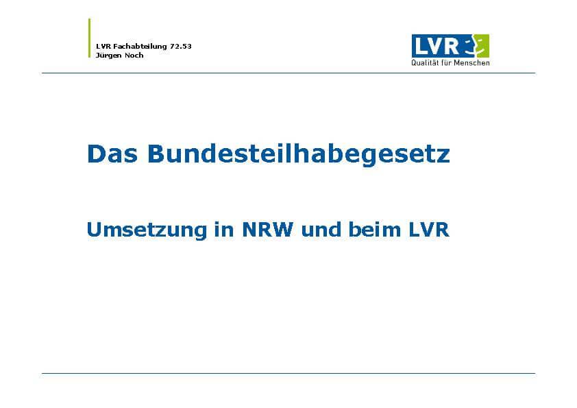 Infomaterial Bundesteilhabegesetz des MEDIAN Therapiezentrum Haus Remscheid