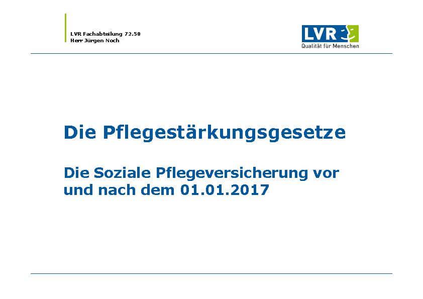 Infobroschüre Pflegestärkungsgesetz des MEDIAN Therapiezentrum Haus Remscheid