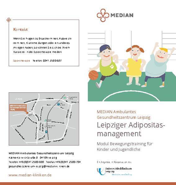 Infobroschüre Adipositas bei Kindern des MEDIAN Ambulantes Gesundheitszentrum Leipzig